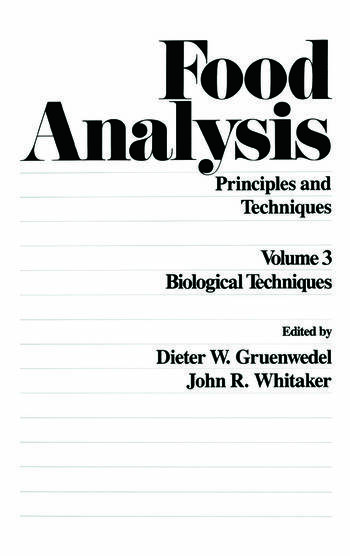 Food Analysis Principles and Techniques (In 4 Volumes) book cover
