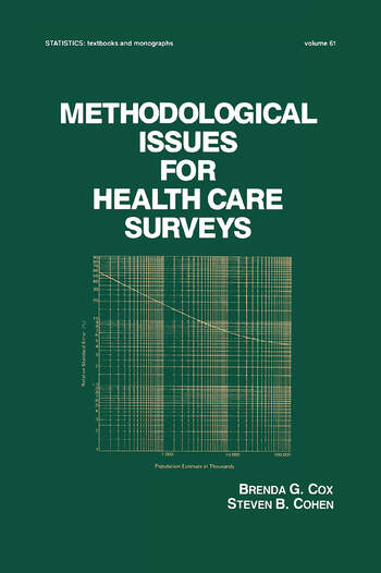 Methodological Issues for Health Care Surveys book cover
