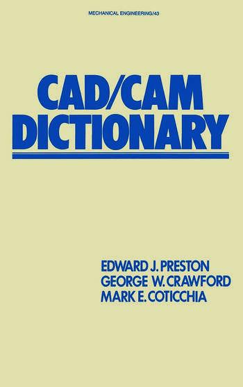 CAD/CAM Dictionary book cover