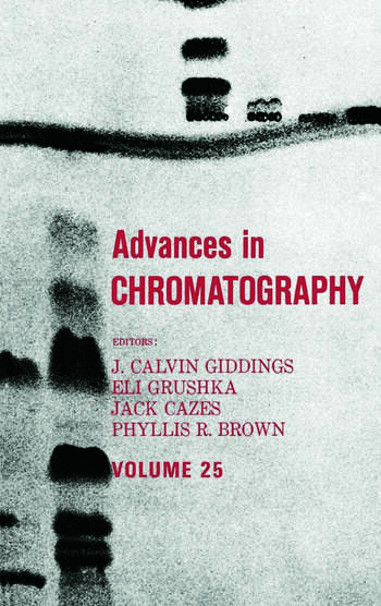 Advances in Chromatography Volume 25 book cover