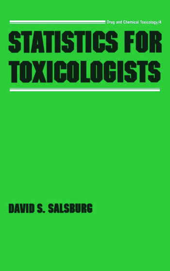 Statistics for Toxicologists book cover