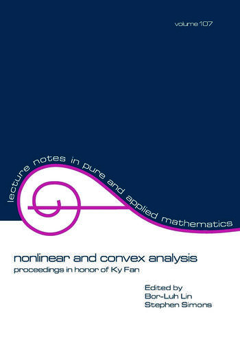 Nonlinear and Convex Analysis Proceedings in Honor of Ky Fan book cover