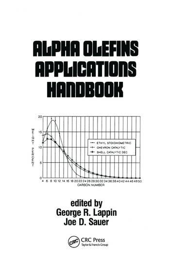 Alpha Olefins Applications Handbook book cover
