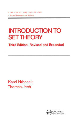 Introduction to Set Theory, Revised and Expanded book cover