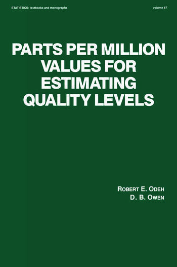 Parts per Million Values for Estimating Quality Levels book cover