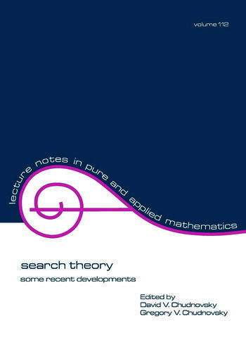 Search Theory Some Recent Developments book cover