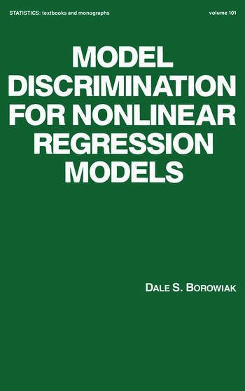 Model Discrimination for Nonlinear Regression Models book cover