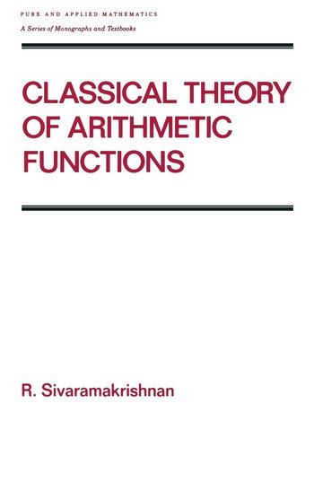 Classical Theory of Arithmetic Functions book cover
