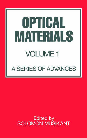 Optical Materials Volume 1: book cover