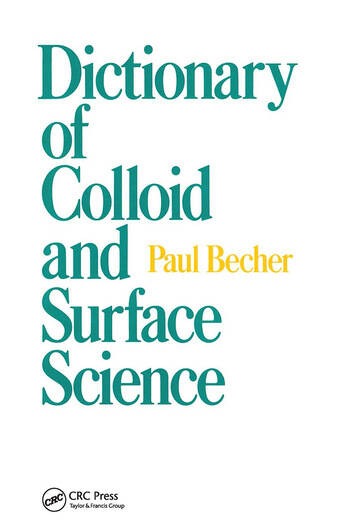 Dictionary of Colloid and Surface Science book cover