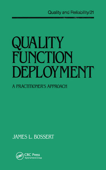 Quality Function Deployment The Practitioner's Approach book cover