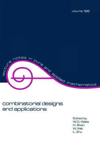 Combinatorial Designs and Applications book cover