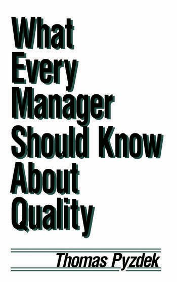 What Every Manager Should Know about Quality book cover
