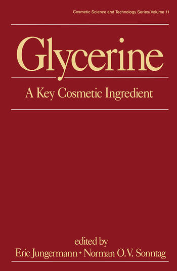 Glycerine A Key Cosmetic Ingredient book cover