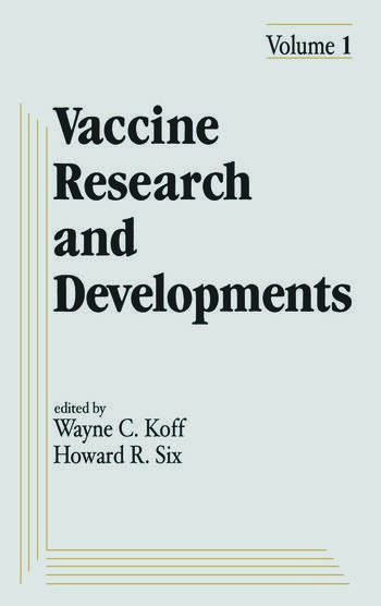 Vaccine Research and Development Volume 1: book cover