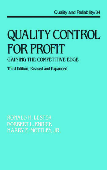 Quality Control for Profit Gaining the Competitive Edge, Third Edition, book cover