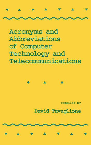 Acronyms and Abbreviations of Computer Technology and Telecommunications book cover