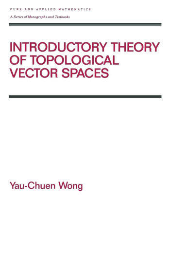 Introductory Theory of Topological Vector SPates book cover
