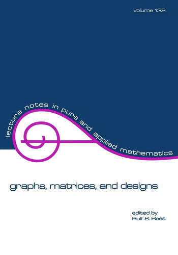 Graphs, Matrices, and Designs book cover