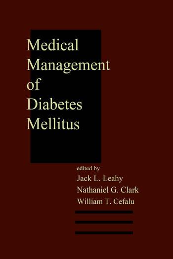 Medical Management of Diabetes Mellitus book cover