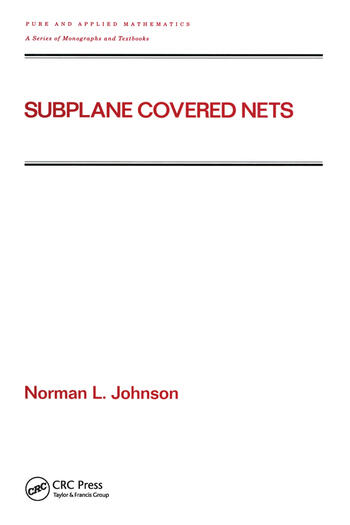 Subplane Covered Nets book cover