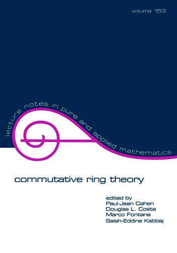 Commutative Ring Theory book cover