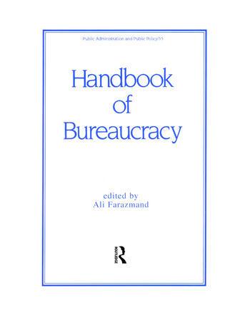 Handbook of Bureaucracy book cover