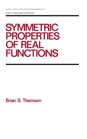 Symmetric Properties of Real Functions book cover