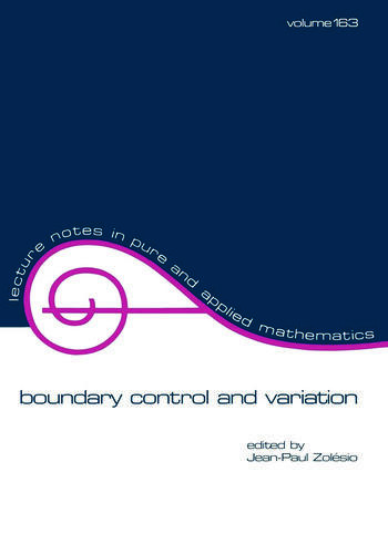 Boundary Control and Variation book cover