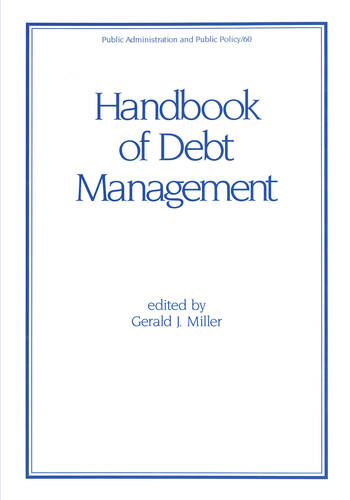Handbook of Debt Management book cover