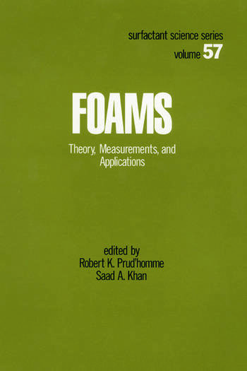 Foams Theory: Measurements: Applications book cover