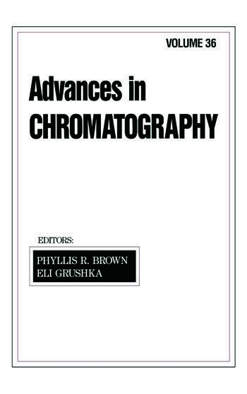 Advances in Chromatography Volume 36 book cover