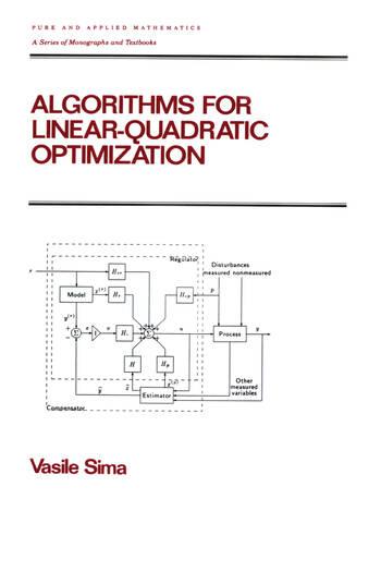 Algorithms for Linear-Quadratic Optimization book cover