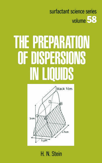The Preparation of Dispersions in Liquids book cover