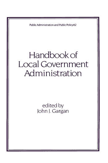Handbook of Local Government Administration book cover