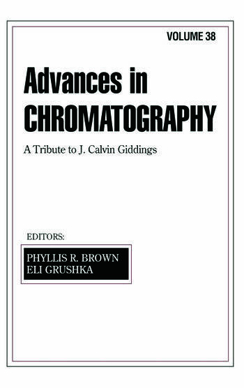 Advances in Chromatography Volume 38 book cover