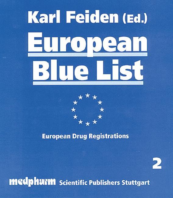 European Blue List European Drug Registrations book cover
