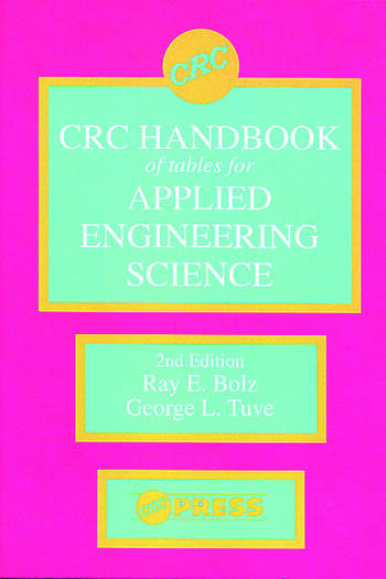 CRC Handbook of Tables for Applied Engineering Science book cover