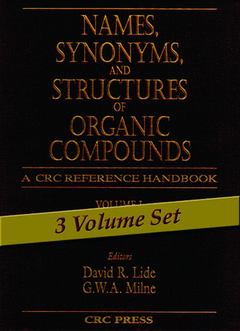 Names, Synonyms, and Structures of Organic Compounds book cover