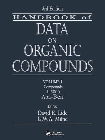 CRC Handbook of Data on Organic Compounds book cover