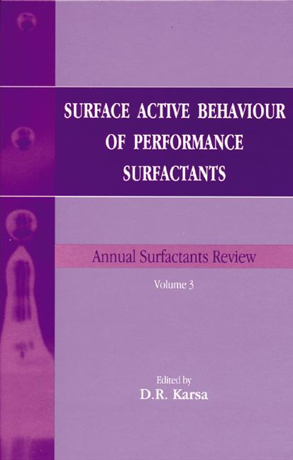 Surface Active Behaviour of Performance Surfactants book cover