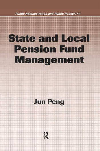 State and Local Pension Fund Management book cover