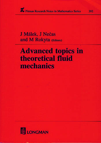 Advanced Topics in Theoretical Fluid Mechanics book cover