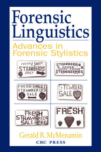 Forensic Linguistics Advances in Forensic Stylistics book cover