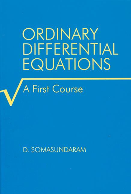 Ordinary Differential Equations A First Course book cover