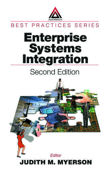 Enterprise Systems Integration book cover