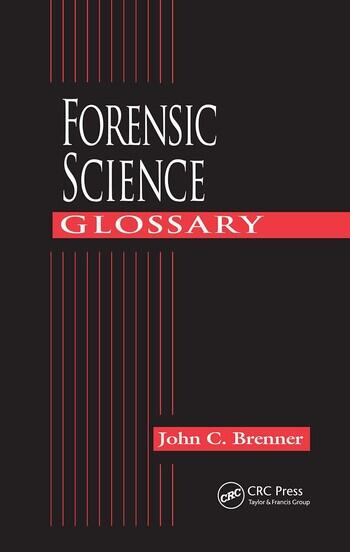 Forensic Science Glossary book cover