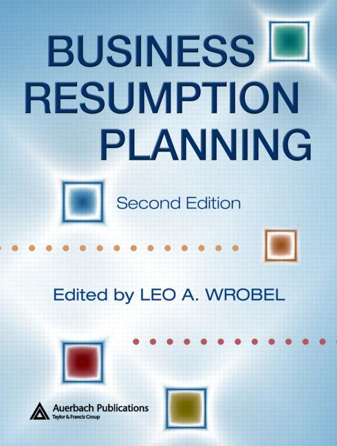 Business Resumption Planning Crc Press Book