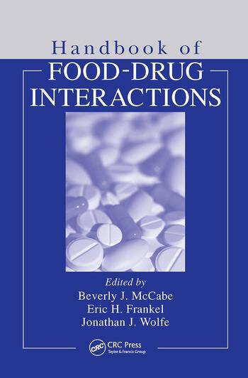 Handbook of Food-Drug Interactions book cover