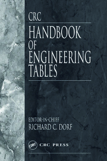 CRC Handbook of Engineering Tables book cover